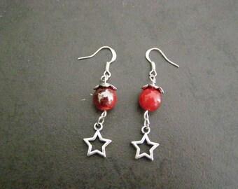 dangle earrings, Star