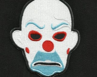 JOKER MASK BANK Robber Cult Classic Movie Film Rockabilly Patch