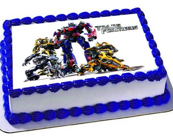Transformers Cake Topper, Transformers Birthday Party, Transformers Frosting Sheet