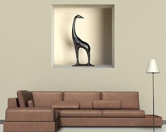 "Wall decal ""trompe l'oeil"" girafe A462 - Stickers ""trompe l'oeil"" girafe  A462"