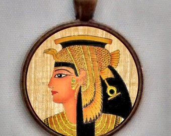 Cleopatra Necklace, Cleopatra Jewelry, Cleopatra  Pendant, Egyptian Necklace.