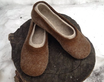 Men's felted wool slippers, Original felted men's slippers, Woolen clogs, Men's house shoes, Christmas gift