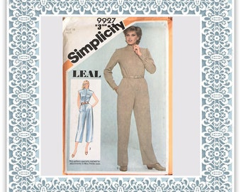 Simplicity 9927 (1981) Misses' jumpsuit in two lengths (with petite option) - Vintage Uncut Sewing Pattern