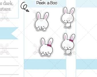 Binky & Foo Foo - Peek a Boo - Bunny Stickers - B10