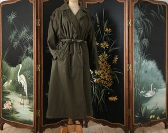 Coat woman vintage trench style
