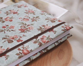 Handmade sketchbook with covers made of cotton | Sketchbook A5
