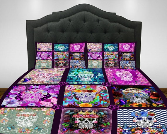 Sugar Skull Bedding Comforter Set Duvet Cover Day Of The