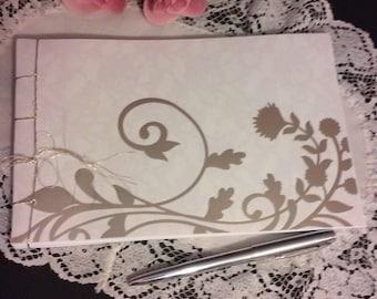 Wedding Guest Book Album - Golden Tumbleweed