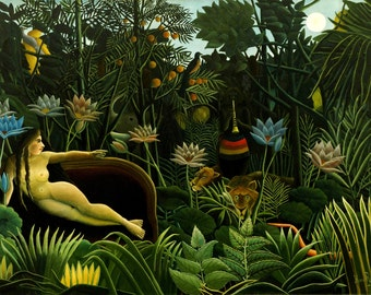 The Dream by Henri Rousseau Home Decor Wall Decor Giclee Art Print Poster A4 A3 A2 Large Print FLAT RATE SHIPPING