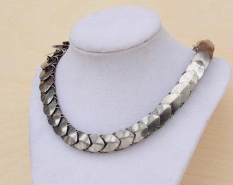 Steel Scale Maille Necklace