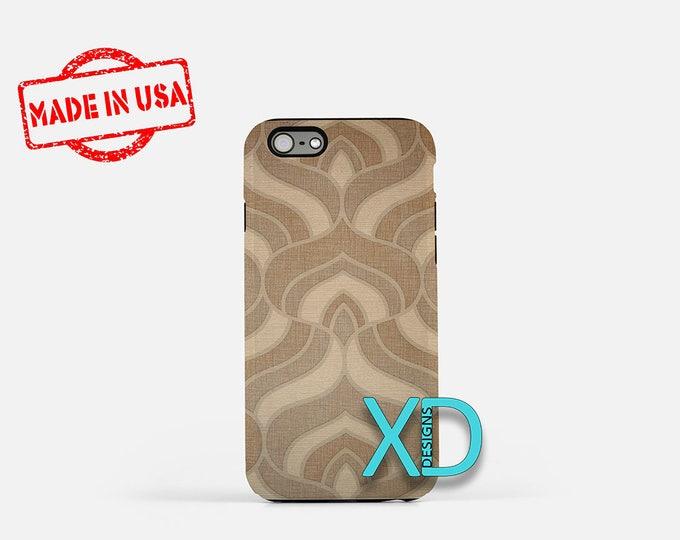 Retro Wallpaper iPhone Case, Taupe iPhone Case, Wallpaper iPhone 8 Case, iPhone 6s Case, iPhone 7 Case, Phone Case, iPhone X Case, SE Case