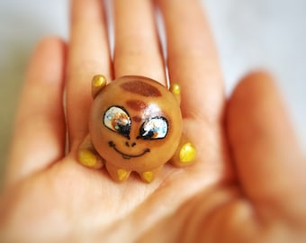 """Miniature Funny """"Hatch"""" Souvenir Mascot Figurine Talisman """"a friend is always with you"""" friendship forever. Gives You:joy,believing and hope"""