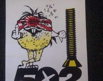 502 Nuts and Bolts BMX Skateboarding Sticker