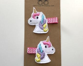 Unicorn Hair Clip, Unicorn Feltie Hair Clip, Unicorn Girls, Unicorn Party, Unicorn Birthday, Unicorn Baby, Unicorn Baby Girl, Unicorn Gift
