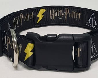 dog collar, Harry Potter, harry potter dog collar, harry potter collar, gryffindor,