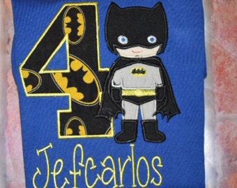 Embroidered Batboy Birthday Shirt