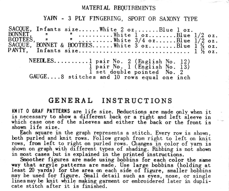 1950s Knit O Graf PATTERN 125 Pixie Infant set Sacque Sweater Bonnet ...