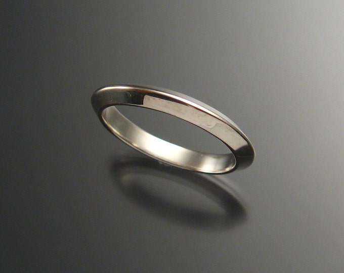 Sterling Silver Triangular Wedding band, any size