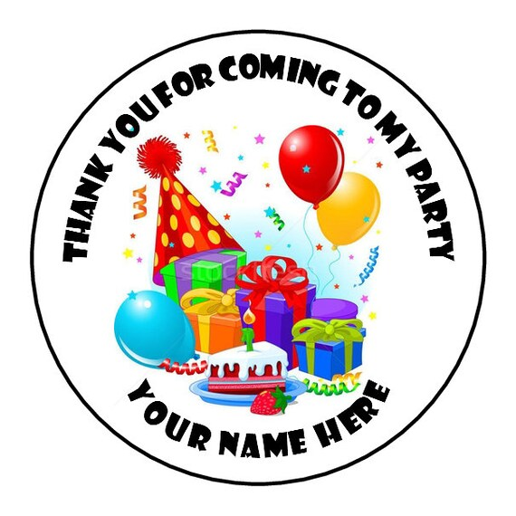 Birthday Balloons Personalised Thank You For Coming To My