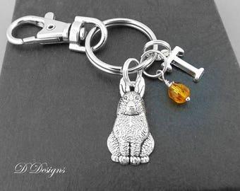 Rabbit gifts etsy rabbit bag charm rabbit keyring rabbit keychain rabbit gifts bunny clip keyring negle Choice Image