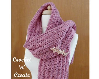 Lightweight Shawl Crochet Pattern (DOWNLOAD) CNC59