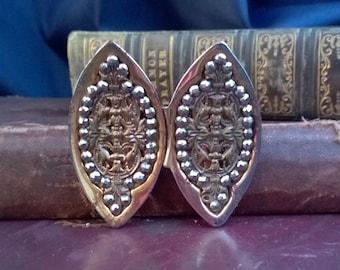 late victorian, edwardian belt buckle, cut steel, filigree