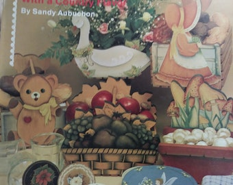 Just Plain Country folk art painting for beginners by Sandy Aubuchon
