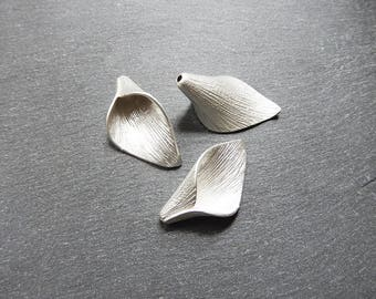 Matte Silver Cap 30 x 16 mm