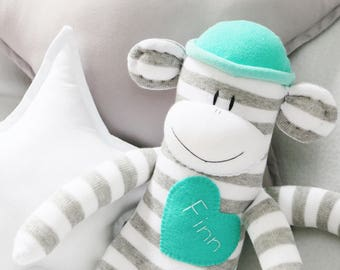Name Patch Personalized for your Sock Monkey Doll