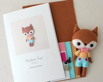 Flicker Pocket Fox Pattern Kit
