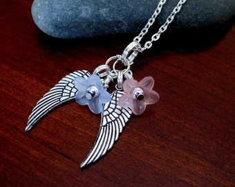 Angel Wings. Pendant Necklace.