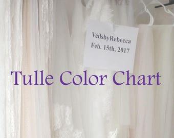 Tulle Color Chart for Wedding Veils- VeilsbyRebecca