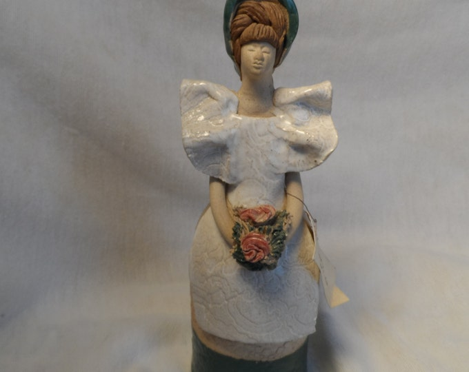 Figurine-Maria Carlos from Venezuela hand made clay figure. Rare Collectible
