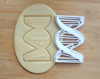 DNA Helix Strand Science Cookie Cutter 3D Printed | Scientist Cookie Cutter / Gifts for Scientist / Gifts for Geeks / Science Cookie Cutters