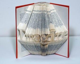 Folded Book Art - Imagine - Gift for Artists - Gift for Family - Gift for Readers