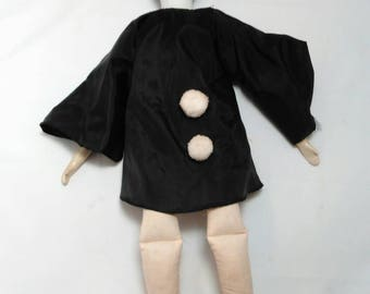 Vintage Creepy Pierrot Porcelain Doll