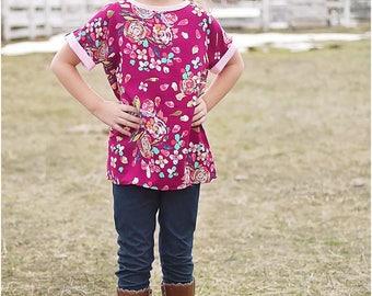 Lola Dress and Tunic PDF Sewing Pattern: Girls Tunic Sewing Pattern, Girls Dress Sewing Pattern
