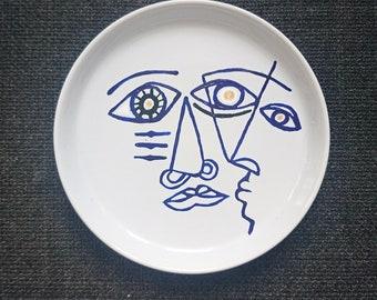19 cm face dessert plate