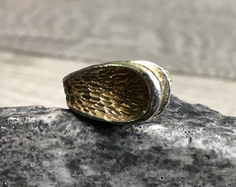 Vintage 1950's Costume Jewelry Adjustable Gold Colored Ring