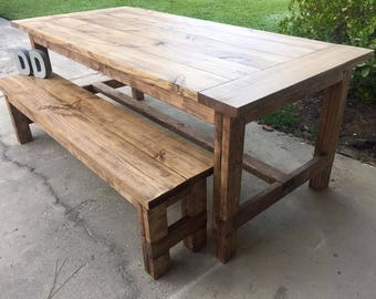 Simple Farmhouse Table (Local Pick up/Delivery Only!)