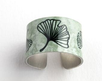 Ginkgo Adjustable Aluminum Ring