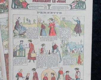 Bleuette 1917 LOT C, sewing patterns, antique doll patterns, la semaine de suzette 11 numbers - FRENCH LANGUAGE(ref 185)