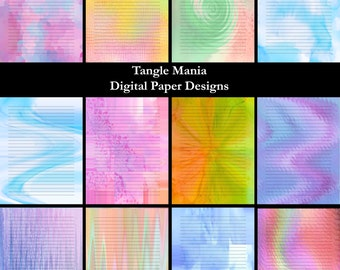Digital Paper Designs - Lined Writing Paper - Variety Pack #3