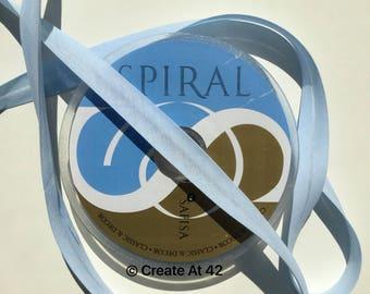 Pale Pastel Blue Bias Binding 18mm Polycotton Tape Safisa Spiral Per Metre Folded