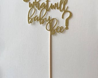 What Will Baby Bee? Cake Topper