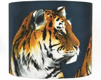 Tigers Lampshade [large] - handmade silk shade