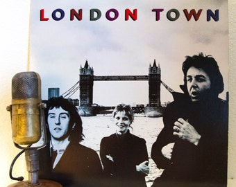 "Paul McCartney Vinyl Record Albums LPs 1970's British Pop Rock and Roll Easy Listening Bass ""London Town"" (1978 Mpl w/""With A Little Luck"")"