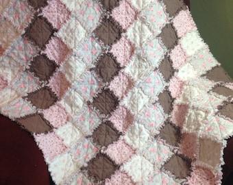 Song Bird Flannel Rag Quilt Lap/Crib Size