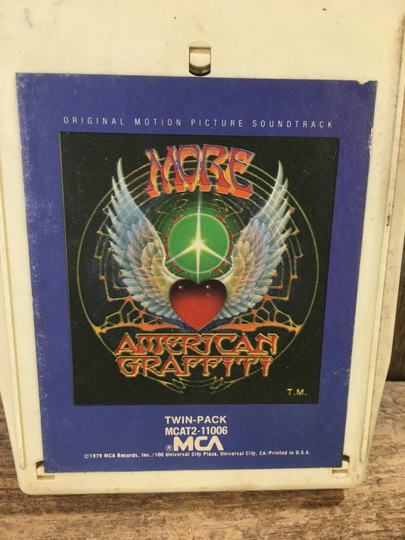 More American Graffiti 8 track tape, vintage movie soundtrack, American Graffiti soundtrack, vintage eight track tape, 1979 8 track tape