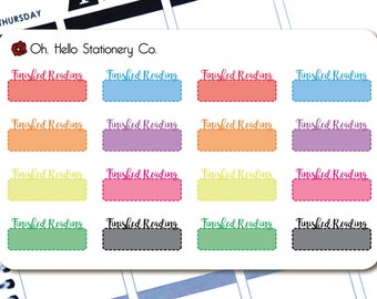 Planner Stickers 16 Rainbow Finished Reading Labels - for Erin Condren Life Planners - R5